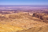 General view of the region of the historic city Petra in Jordan — Stock Photo