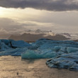 Sunset at the famous glacier lagoon at Jokulsarlon - Iceland — Stock Photo #53651341
