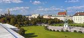 Panorama view at Volksgarten park and the Heldenplatz in Vienna — Stock Photo