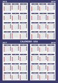 Calendar 2015 - 2016 - 2017 - 2018 — Stock Vector