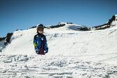 Joven esquiadora — Foto de Stock