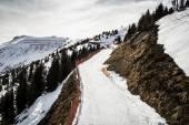 Ski road in Alps — Foto de Stock