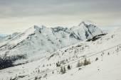 Slopes of Shareck, Grossglockner-Heiligenblut ski resort — Stock Photo