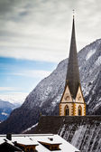 Church of Heiligenblut with Grossglockner in the background — Stock Photo