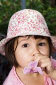 Retrato de menina emocional — Fotografia Stock