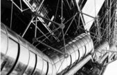 Fragment building of Centre Georges Pompidou . — Stock Photo