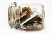 Money jar. — Stock Photo