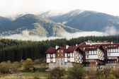 The panorama view of modern houses and hotel in Bulgaria — Stock Photo