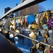 OTTAWA, CANADA - FEBRUARY 16: Love locks on Corktown Footbridge — Stock Photo #61360283