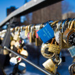 OTTAWA, CANADA - FEBRUARY 16: Love locks on Corktown Footbridge — Stock Photo #61360285