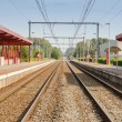 Railway station with two tracks and electric power — Stock Photo #54755967