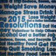 Resolution for the new year 2015 new start — Stock Photo #57749579