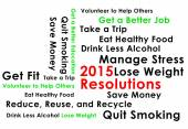 Resolution for the new year 2015 new start — Stock Photo