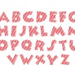 Candy cane alphabet font red white and pink colours — Stock Photo #58705993