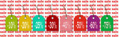 Labels in the new colors for sale bargains and discounts — Stock Photo