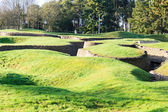 The trenches and craters on battlefield of Vimy ridge — Стоковое фото