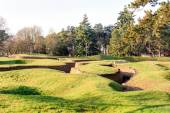 The trenches and craters on battlefield of Vimy ridge — Stock Photo