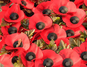 Wreath of poppies to commemorate the First World War — Stock Photo