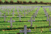 Cemetery of French soldiers from World War 1 in Targette — Stock Photo