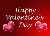 Happy valentine's day card background with heart — Stock Photo
