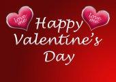 Szczęśliwy tło valentine's day karty z serca — Zdjęcie stockowe