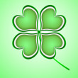 Four leaf clover in green made of hearts — Stock Photo #62985065