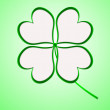Four leaf clover in green made of hearts — Stock Photo #62985325