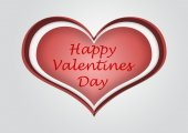 Heart for a happy valentine's day illustration — Stock Photo