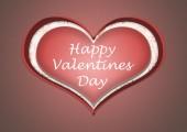 Happy valentine's day heart — Stock Photo