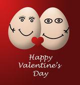 Feliz día de San Valentín mi amor rojo corazón de huevo — Foto de Stock