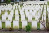 Cemetery fallen soldiers in World War I Flanders Belgium — Stock Photo