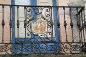 Balkonové zábradlí — Stock fotografie