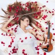 Girl with violin — Stock Photo #53719149
