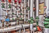 Abandoned industrial boiler room — Stock Photo
