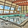 Dilapidated swimming pool in an abandoned asylum — Stock Photo #53770243