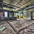 Dilapidated workshop in an abandoned factory — Stock Photo #56979203