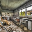 Abandoned laboratory in a derelict factory — Stock Photo #57029475