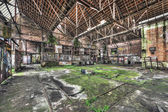 Derelict warehouse in an abandoned coal mine — Stock Photo