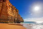 Rock formation at Praia do Carvalho in Benagil — Stockfoto