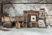 Old relics in a dusty attic — Stock Photo