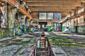 Inspection pit in a derelict workshop.tif — Stock Photo
