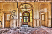 Derelict lobby in an abandoned manor — Стоковое фото