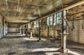 Derelict shower room in an abandoned coal mine — Stock Photo