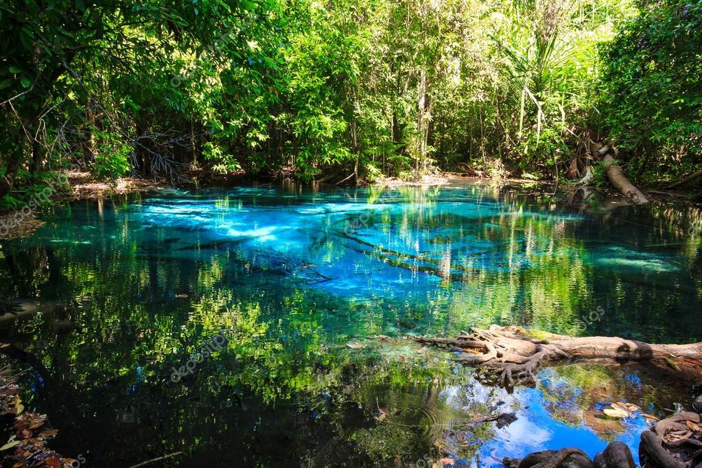 Bleu emeraude piscine naturelle province de krabi for Piscine a debordement thailande
