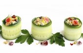 Cucumbers rolls — Stock Photo