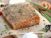Salted salmon fillet — Stock Photo