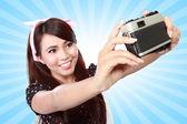 Woman taken a picture — Stock Photo