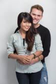 Young happy multicultural couple — ストック写真