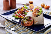 Mexican cuisine burritos prawn queiro — Stock Photo