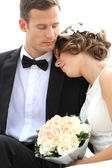 Harmonious young newlywed couple — Stock Photo